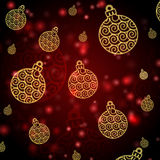 Abstract red background with christmas balls Royalty Free Stock Photography