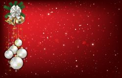 Abstract background with Christmas bells and decorations Stock Images