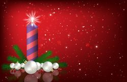 Abstract background with Christmas bells and decorations Royalty Free Stock Images