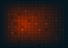 Abstract red background with circles and wide blurry light spot Royalty Free Stock Photos