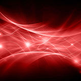Abstract red background cloth or liquid wave illustration of wavy folds of silk texture satin or velvet material or red Stock Photography