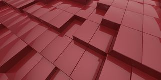 Abstract red background of 3d blocks Royalty Free Stock Image
