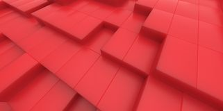 Abstract red background of 3d blocks Royalty Free Stock Photos