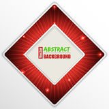 Abstract red  background design with text Stock Image