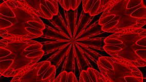 Abstract red background. Digital kaleidoscope. 3d rendering Royalty Free Stock Image