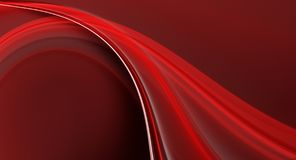 Abstract fractal red background. Abstract fractal red 3d wave generated on computer stock illustration