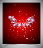 Abstract red background with glass  wings. Royalty Free Stock Photography