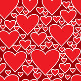 Abstract red background with hearts Royalty Free Stock Photo