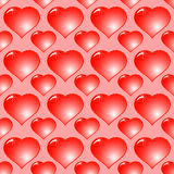 Abstract red background with hearts Royalty Free Stock Photography