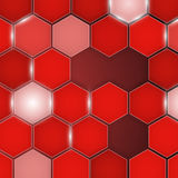 Abstract red background hexagon. Vector Royalty Free Stock Photos