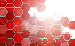 Abstract red background hexagon. Vector illustration Royalty Free Stock Photo