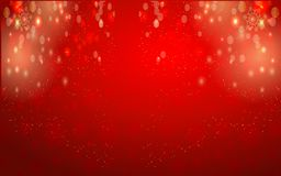 Red Christmas Lights Abstract Background. An abstract red background made with christmas lights and material royalty free illustration