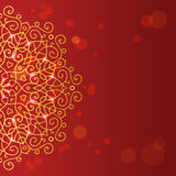 Abstract red background with mandala ornament Royalty Free Stock Photo