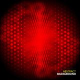 Abstract red background with mesh gloomy circles Royalty Free Stock Image