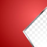 Abstract red background with metal stripe Stock Photo