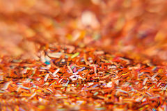 Abstract red background with multicolored glitter. Pattern. Background. Stock Photography