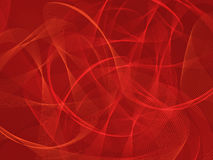 Abstract red background with ribbons Stock Images