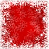 Abstract red background with snowflakes Royalty Free Stock Photo