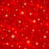 Abstract red background with sparkling twinkling stars. Cosmic shiny galaxy (atmosphere). Holiday blank texture for Christmas Stock Photos