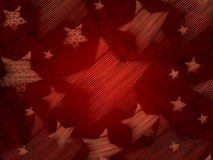 Abstract red background with stars Royalty Free Stock Photography