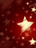 Abstract red background with striped stars, vertical Royalty Free Stock Image