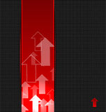 Abstract red background with transparent arrows la Stock Photography