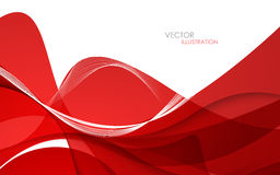 Abstract red background. Vector illustration Stock Photography