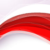 Abstract red background with wave. Vector illustration Stock Images