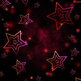 Abstract red background with white stars Stock Photo