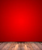 Abstract red background with wood floor Stock Photo