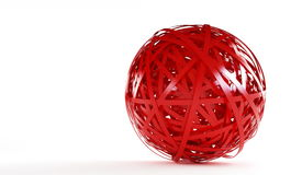 Abstract red ball. Abstract red plastic ball on a white background Stock Image