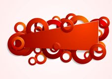 Abstract red banner with circles Royalty Free Stock Images