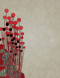 Red Black Vertical Illustration. This is a vertical illustration with a patterned background Stock Image
