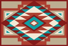 Abstract Red and Beige Southwest Native Background 3 Stock Photo