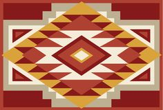 Abstract Red and Beige Southwest Native Background 2 Royalty Free Stock Photo