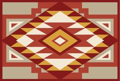 Abstract Red and Beige Southwest Native Background 1 Stock Photography
