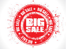 Abstract red big sale grunge stamp. Abstract red big sale grungy stamp vector illustration Stock Photography