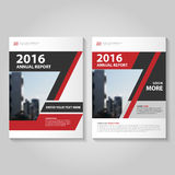Abstract red black annual report Leaflet Brochure Flyer template design, book cover layout design Stock Image