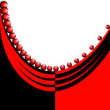 Abstract red and black background Stock Photos