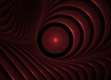 Abstract Red & Black Background. Generated in fractal. 3D red stripes on a black  background Stock Images