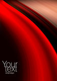 Abstract red, black and beige background. Space for text isolated on solid black color Stock Images
