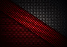 Abstract red black carbon fiber textured material design stock illustration