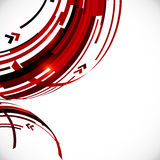 Abstract red and black circles background Royalty Free Stock Images