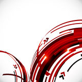 Abstract red and black circles background Stock Photos