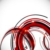 Abstract red and black circles background Royalty Free Stock Photo