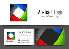 Abstract Red Black Green Blue Corporate Logo and Business Card. Sign Template. Creative Design with Colorful Logotype Visual Identity Composition Made of stock illustration