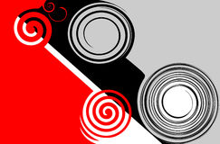 Abstract red-black-grey. Royalty Free Stock Photography