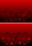 Abstract red and black ornament Stock Image