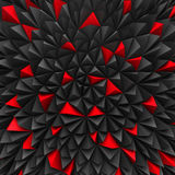 Abstract Red And Black Poligon Chaotic Background Royalty Free Stock Photos