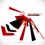 Abstract red and black shining lines background Royalty Free Stock Images